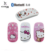 4 Pattern Hello Kitty 1600 DPI Cute Slim Ultra-thin Mause Optical Bluetooth Wireless Cordless Mouse Computer Mice PC Girl Gift