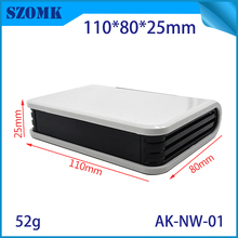 4 pieces, 110*80*25mm small plastic router electronics control enclosure instrument housing plastic case szomk network enclosure(China)
