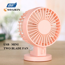 Portable Mini Fan Blue Air Conditioner Ventilador Double Leaf Fan Portable Small Fan Usb Ventilador De Mesa Rechargeable Fan