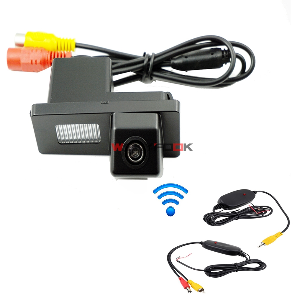 Night Vision Wire Wireless Car Rear View Camera For 2011 2013 2014 Ssangyong Rexton Kyron Korando new ActYon(China)