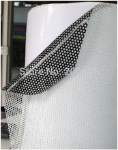White Perforated Mesh Tint Fly Eye Film One Way Vision Vinyl Window Sticker 1.07x50M/Roll Free Shipping