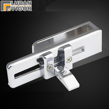 Frameless shower room sliding door Lock/bolt/Doorstop,for glass thick 6-8mm,or Screen partition door,Glass hardware
