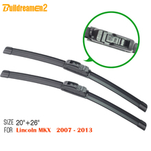Buildreamen2 For Lincoln MKX 2007-2013 Soft Rubber Windshield Wiper Blade 1 Pair Car Bracketless Windscreen Wiper