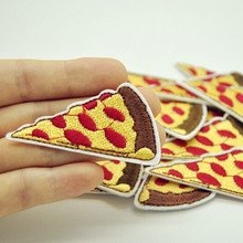 Hot Sale 10PCS Sandwich Pizza Iron On Embroidered Patch For Cloth Cartoon Badge Patch Garment Appliques Funny 3D DIY Accessory(China)
