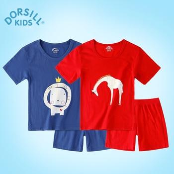 Enfants Vêtements Ensembles Dorsill 2017 Nouveaux Garçons Occasionnels Ensembles Frais 100% Coton Pour Enfants 2 Pièces Livraison Gratuite Vêtements Ensembles