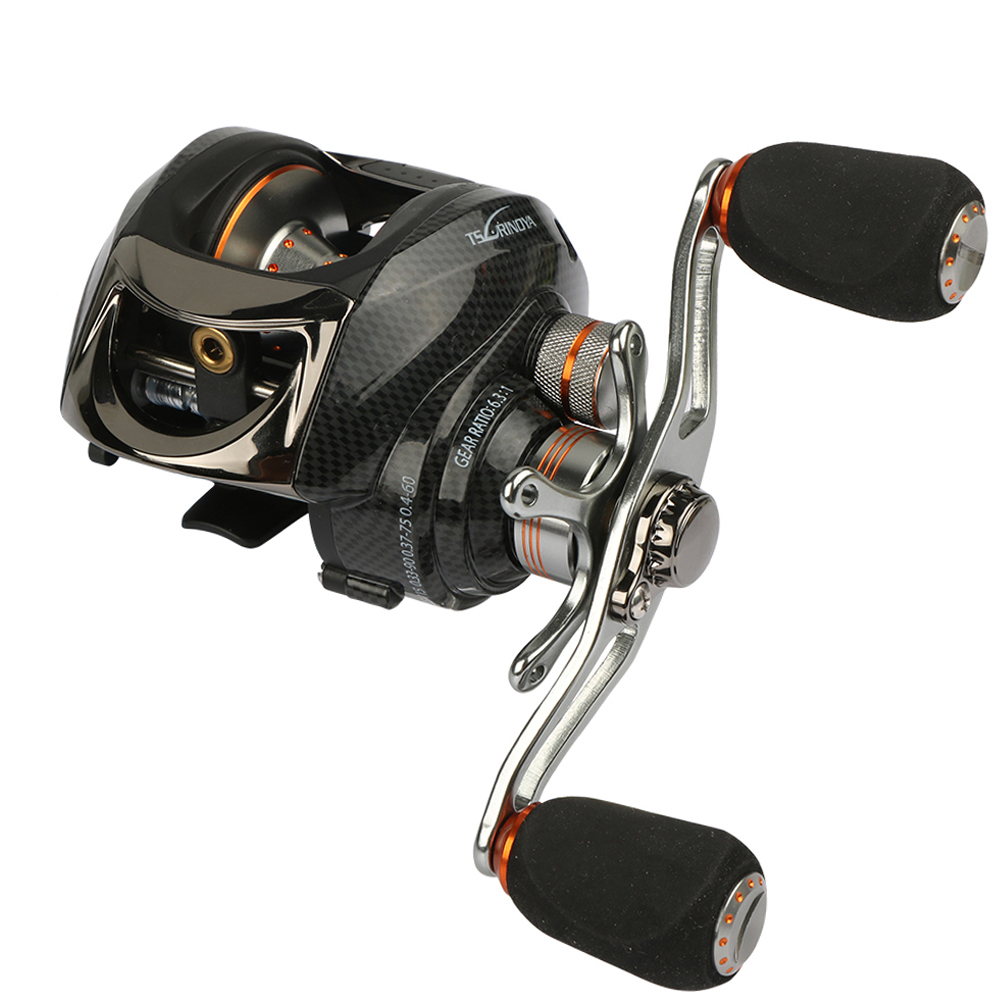 Tsurinoya Baitcasting Fishing Reel 13+1 BB 2 Control Systems Right Left Hand Centrifugal &amp; Magnetic Fresh Water Anti-backlash<br>