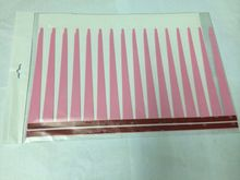 1pair=2pcs/lot Hot selling 31cm Pink Color 3D Car Cecor Stickers And Decals For Headlights Car Eyelashes(China)
