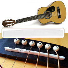 Classical Buffalo Bone Guitar Bridge Saddle Replacement Parts For 6 String Acoustic Guitar Wholesale(China)