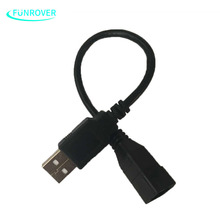 FUNROVER 4Pin USB cable adapter for VW for Volkswagen after Market DVD Radio to keep the car original USB slot Function new