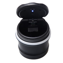 Portable Auto Car Truck LED Cigarette Smoke Cigar Car Ashtray Cendrier Cenicero Cinzeiro Ceniceros Asbak Ash Cylinder Cup Holder(China)
