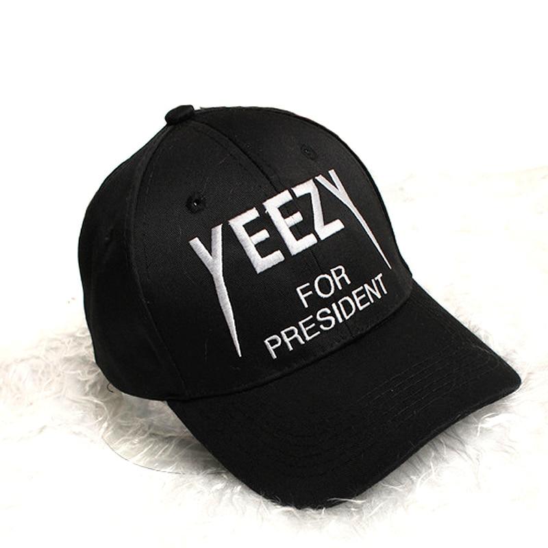 Black letter Yeezus Cap Hat Yeezy Boost 350 750 Duck Boot Season 1 100% cotton  Strapback snapback Cap 6 panel hat<br><br>Aliexpress