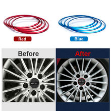 4pcs/set Blue Red Hub Cap Cover Decorative Ring Wheel Metal Stickers For BMW Series 1 3 5 X1 X3 X4 X5 X6 For BMW Wheel Stickers