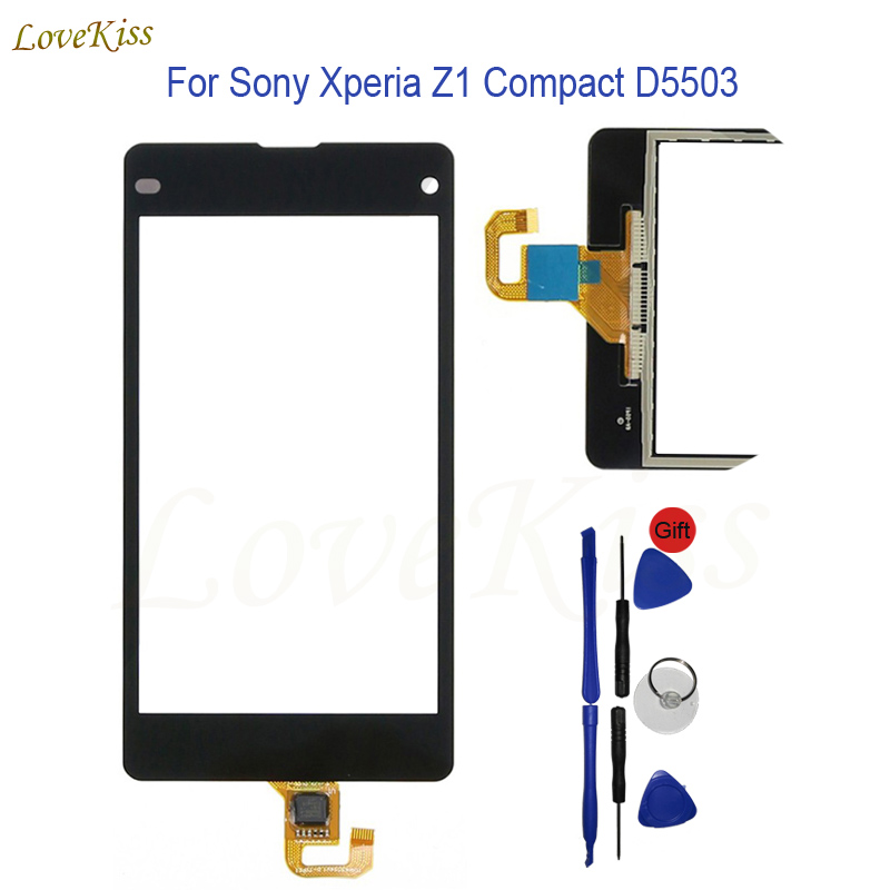 "4.3"" Touch Screen Panel Digitizer Sony Xperia Z1 Compact D5503 Sony Z1 Mini Touchscreen Sensor Front Glass Replacement"