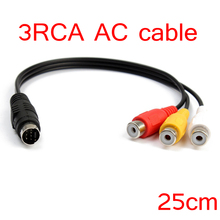 New 3 RCA Female To 7 Pin S-video Male Converter Composite AV Cable video Cable For TV Laptop PC(China)