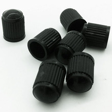 50Pcs Plastic Truck Car Tire Air Wheel Valve Stem Cap Motorcycle Auto Wheel Tyre Valve Stem Caps Dust Cover Lid Black(China)