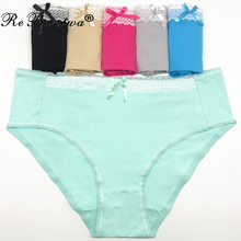 Buy Rebantwa Brand 10pcs Femme Oversize Briefs Plus Size 3XL/4XL Women Panties Cotton Mom Underwear Sexy Lingerie Ladies Knickers