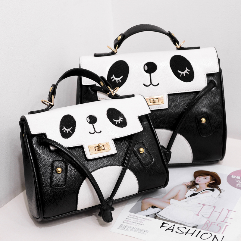 2017 new women girls Shoulder Messenger Bag cute cartoon panda bags portable mini small bag lady casual mother daughter bags<br><br>Aliexpress