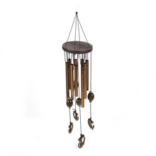 Antique Wooden Elephant Windchime Church Bells Wind Chimes Door Hanging Outdoor Yard Garden Hanging Home Decoration