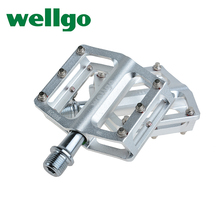 "WELLGO KC008 Bike Bicycle Ultralight Aluminum Extruted Platform Pedals 9/16"" Spindle Sealed Bearing for Bike MTB BMX DH(China)"