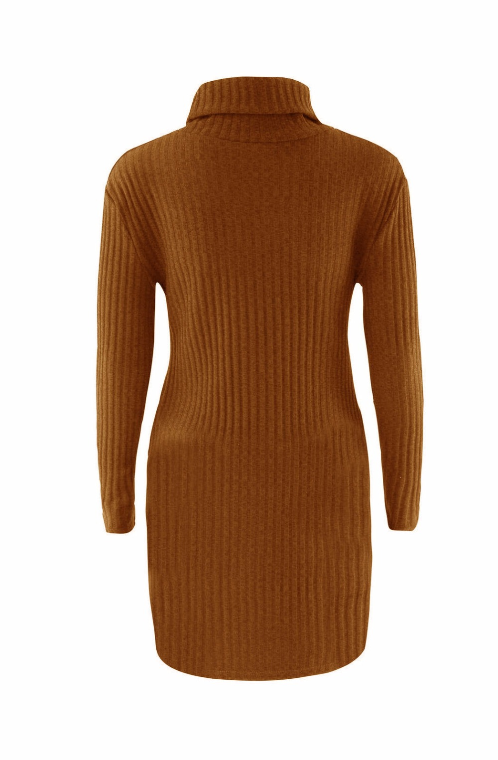 Turtleneck Long knitted pullover sweater, Women's Jumper, Casual Sweater 46