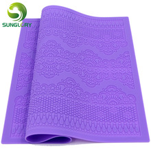 New Arrivals Silicone Mat Fondant Cake Decorating Styling Tools Kitchen Silicone Lace Mold Flower Pattern