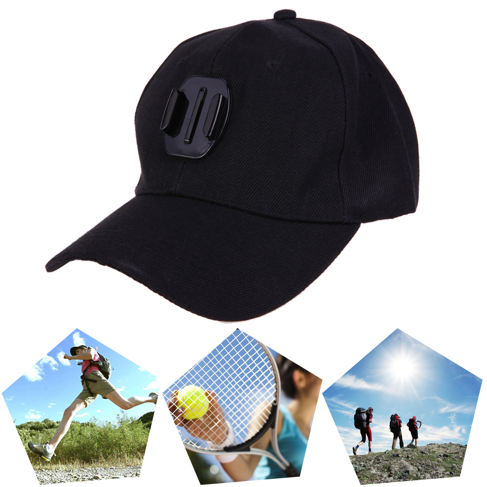 For GoPro Accessories Action Camera Baseball Cap Adjustable Canvas Sun Hat Cap for Gopro Hero 5 4 3 for SJCAM Action Camera