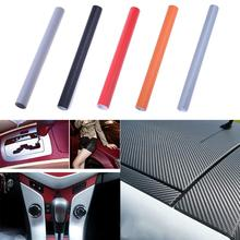 Car Styling 3D Carbon Fiber Vinyl Car Wrap Sheet Roll Film Car stickers and Decals Automobile Motorcycle Accessories 30cmx127cm(China)