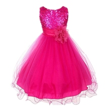 Cute Girls Fashion Dress Summer Kid Girls Sleeveless Belt Flowers Tutu Princess Party Dresses Ball Gown Kids Dresses