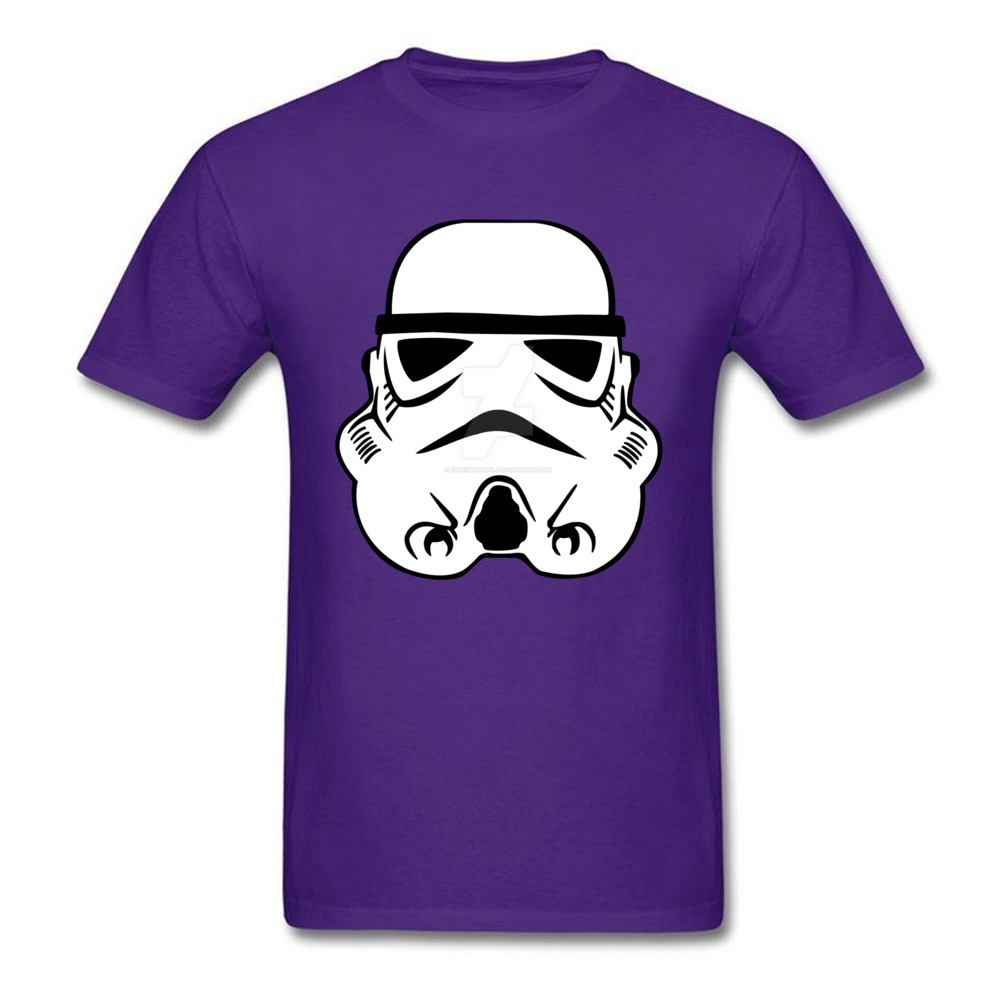 Newest Stormtrooper 10 Short Sleeve T-Shirt Summer/Autumn Round Neck Pure Cotton Tops & Tees for Men Tops Shirt Simple Style Stormtrooper 10 purple