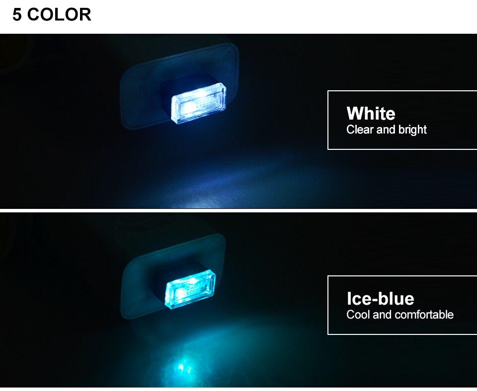 Mini Wireless Car Atmosphere Light LED USB Night Light Cigarette Lighter Decorative Lights Car Styling Truck PC Laptops Kit (5)