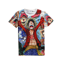 One Piece T shirt New Fashion Japanese Anime One Piece Character Luffy Print Men Women 3d T-shirt Harajuku Camisetas Hombre Tees