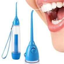 2017 Portable Oral Water Jet Dental Irrigator Flosser Tooth SPA Cleaner Travel Manually Red Teeth