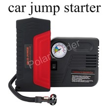 booster jumper Car Battery for gasoline with 2 USB Ports Jump Starter Emergency Power Bank with pump Cars with pump