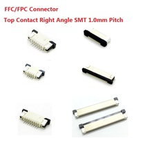 100pcs FFC / FPC connector 1.0 mm 4 Pin 5 6 7 8 10 12 14 16 18 20 22 24 26 18 30 P Top Contact Right angle SMD / SMT ZIF