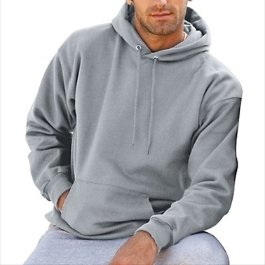 F170 Mens Ultimate Cotton Pullover Adult Hoodie Sweatshirt Light Steel Medium (1)