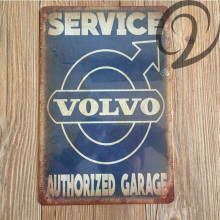 Service Volvo Authorized Garage Tin Signs 20*30cm Bar Pub Home Wall Decoration Vintage Metal Sign Shabby Chic Tin Plate Man Cave