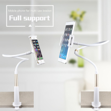 For iPhone Aluminum Gooseneck Holder Desk Mount Tablet Holder alloy telefoon houder phone stand  for ipad 5 sumsung Tablet Stent