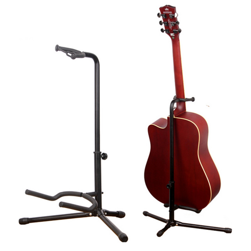 Musician  Gear Electric  Acoustic and Bass Guitar Stands (2-Pack) Single Stand U-Type Piano Care Automatic Adjustment<br>