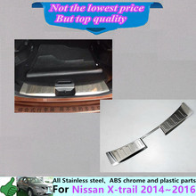 For Nissan X-trail xtrail 2014 2015 2016 Stainless Steel Inner built Rear Bumper trim plate lamp threshold pedal(open) 1pcs(China)