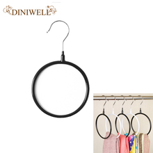 2Pcs/Set PVC Multifunctional Clothes Hanger Silk Scarf Storage Rack Shelf Toroidal Hanger Rack Tie Garment Towel Holder