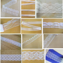 Hot! White 10 yards of beautiful lace ribbon, DIY embroidery lace mesh lace trim / Jewelry / Clothing accessories(China)