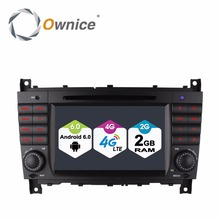 4G SIM LTE WIFI Octa 8 Core Android 6.0 Car DVD Radio Player GPS Navigation for Mercedes Benz C CLK CLS CLC Class W203 W209 W219(China)