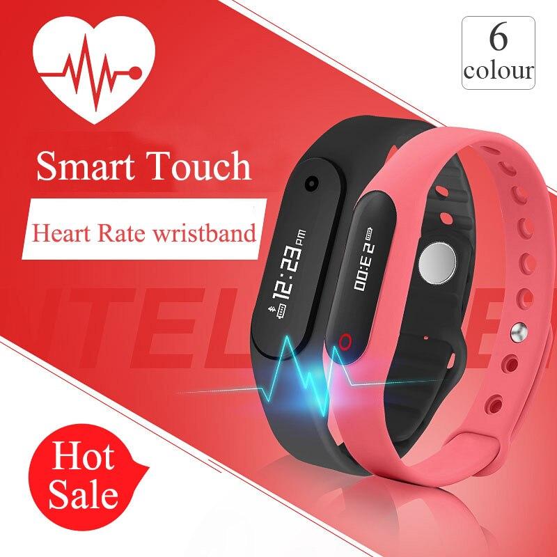 Fitness Sleep Tracker Heart Rate Monitor Smart Bracelet Bluetooth 4.0 Touch Screen Fitness Tracker Health Wristband Smart Watch<br><br>Aliexpress