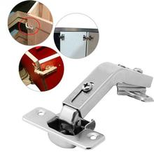 1Pc 135 Degree Corner Folded Silver Cabinet Door Hinges for Kitchen Bathroom Cupboard
