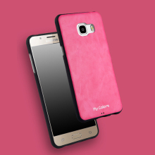 For Samsung Galaxy C5 C500 C5000 C7 C700 C7000 Case Soft TPU Silicone Case Slim TPU + PU Leather Back Cover Case