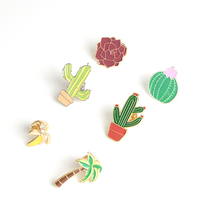 Popular jewelry wholesale original Japanese style mini plant brooches pins cute shirt collar  accessories