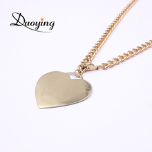 Buy Duoying New MOM Gift Personalize Custom Adjustable Chain Necklace Gold Color Heart Pendant Engrave Initial Name Jewelry Etsy for $6.19 in AliExpress store