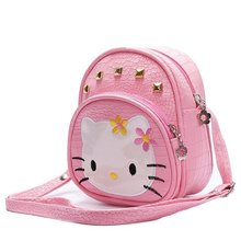 mini cute bag children hello kitty handbags kids girls Shoulder Bag mini rabbit shoulder bags fashion Rivets Messenger bag