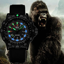 ANGELA BOS Super Bright Military Watch Mens Rotary Dial Compass Alloy Army Silicone Weatherproof Men's Watches relogio masculino