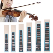 OOTDTY 4/4 3/4 1/2 1/4 1/8 1/10 Violin Fiddle Finger Guide Fingerboard Sticker Practice  (China)